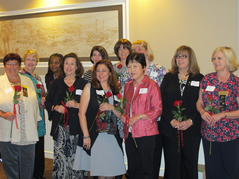 Suzanne Fraser (far left), Elaine Hoffmann (far right) incoming Vice-Presidents