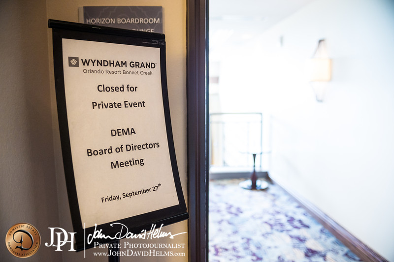 September 27, 2013 - Domestic Estate Managers Association Board of Directors Meeting, Wyndham Grand Orlando Resort, Bonnet Creek, Florida.  Photos by Matt Gillespie, John David Helms, Kristian Ogden and Katie Parker.