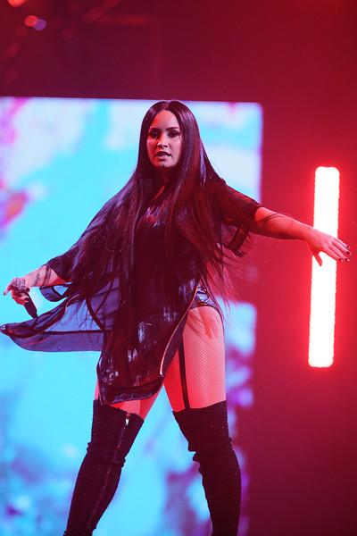 Demi Lovato live at Little Caesars Arena on 3-13-18.  Photo credit: Ken Settle