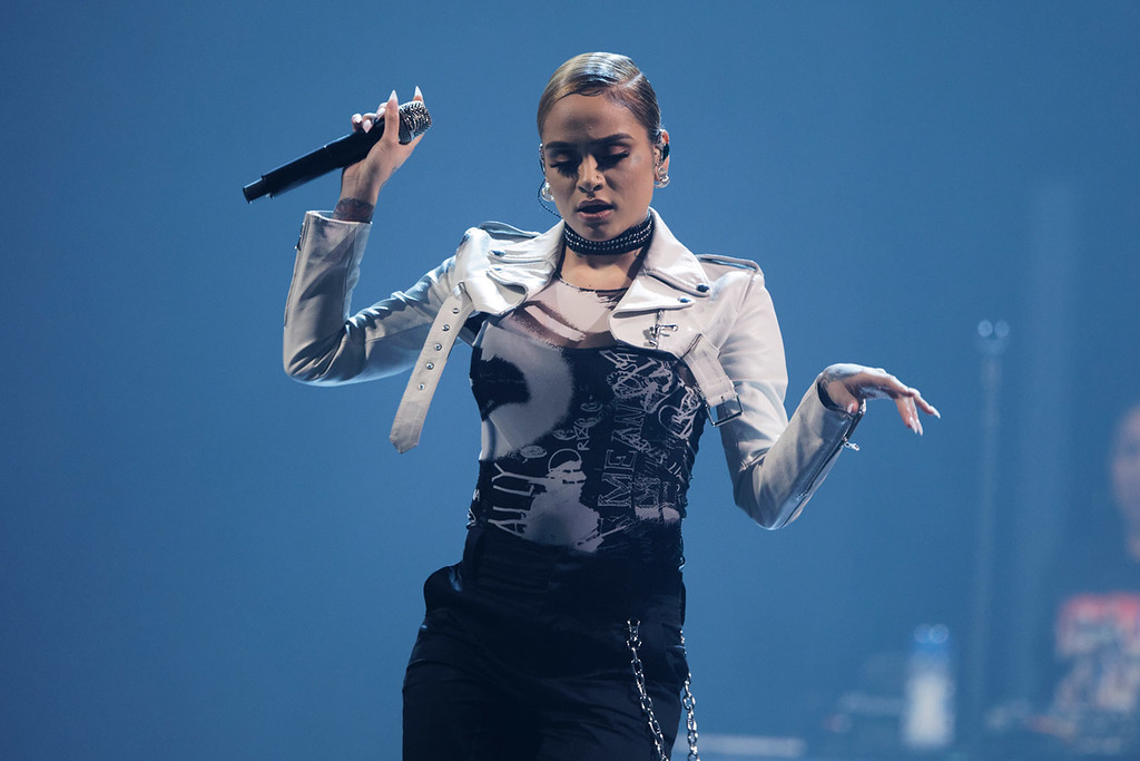 . Kehlani live at Little Caesars Arena on 3-13-18.  Photo credit: Ken Settle