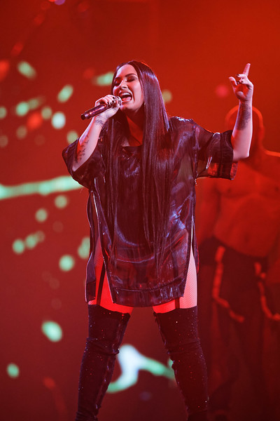 Demi Lovato live at Little Caesars Arena on 3-13-18.  Photo credit: Ken Settle