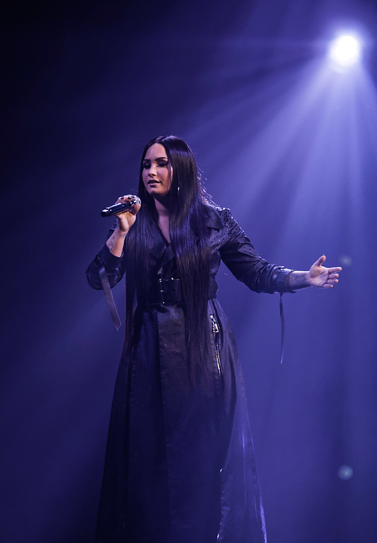 . Demi Lovato live at Little Caesars Arena on 3-13-18.  Photo credit: Ken Settle
