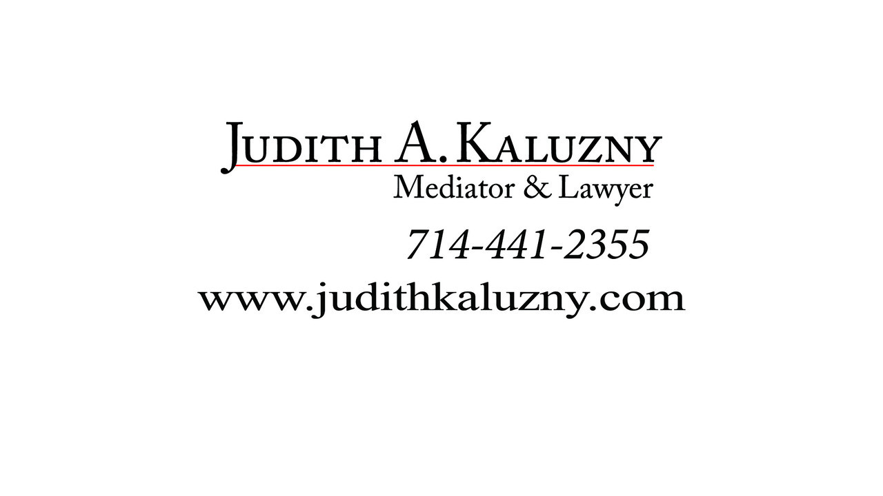 Mediation video for Judith A. Kaluzny. This client is currently playing it on YouTube.