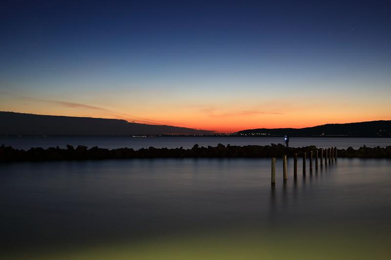 After Sunset at Port Szigliget — Napnyugta után a szigligeti kikötőben