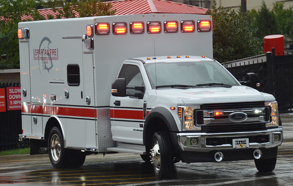 2019 Ford F-450/Xpress Plus<br /> Type-I Ambulance<br /> S/N # 7989<br /> <br /> Shown at SAFRE 2019<br /> <br /> Andrew Messer Photo