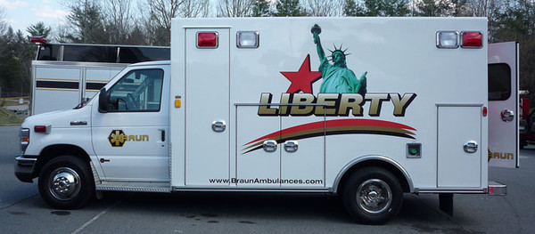 2009 Ford E-450/Braun Liberty<br /> Type-III Ambulance<br /> S/N # 5350<br /> <br /> Now serves ???<br /> <br /> Andrew Messer Photo