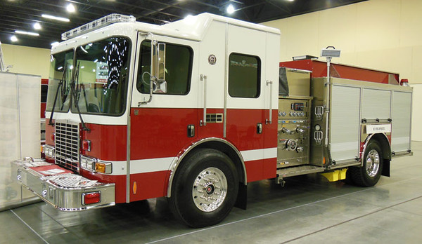 """2014 HME 1871/Ahrens Fox<br /> 1250/1000<br /> S/N # 22748<br /> <br /> Displayed at Smoky Mountain Weekend 2016<br /> <br /> Now serves Mattawa, Ontario, Canada as """"""""Engine 3""""<br /> <br /> Andrew Messer Photo"""