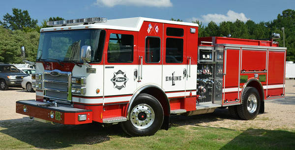 """2014 Pierce Enforcer<br /> 1500/750<br /> Job # 27204<br /> <br /> Now serves Mifflintown Hose Company # 1 of Juniata County, PA as """"Engine 22""""<br /> <br /> Andrew Messer Photo"""