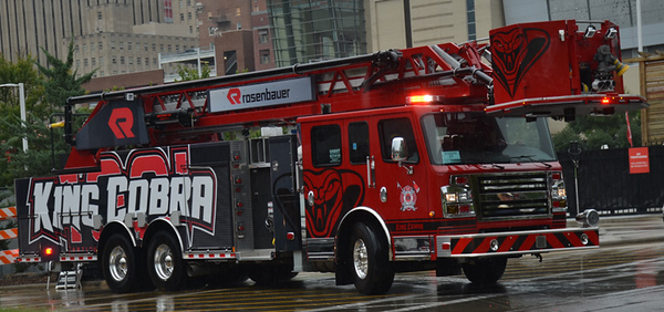 2018 Rosenbauer Commander<br /> 2000/500/100' King Cobra<br /> S/N # 7555<br /> <br /> Shown at SAFRE 2019 in Raleigh, NC<br /> <br /> Andrew Messer Photo