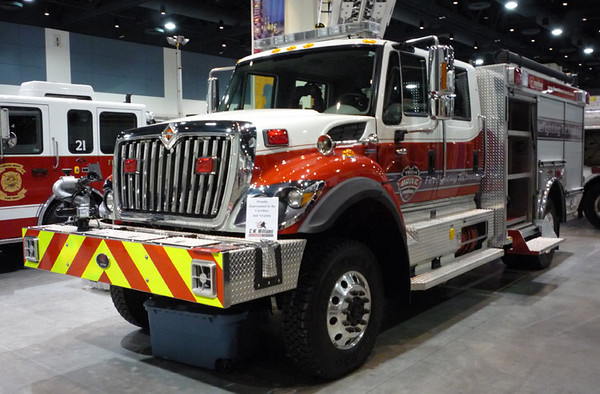 """2009 IHC 7400/Rosenbauer<br /> 1000/750/30A<br /> S/N # 2914<br /> <br /> Now serves Lincoln County Fire Services of Bonito, NM as """"Engine 65""""<br /> <br /> Andrew Messer Photo"""