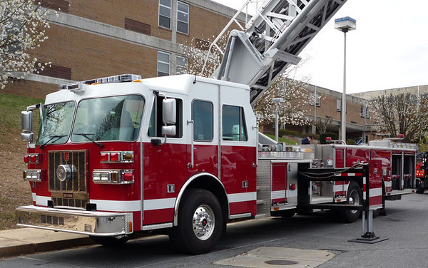 """2008 Sutphen<br /> 2000/300/100' Sutphen<br /> S/N # HS-4293<br /> <br /> Now serves Citizens Fire Company of Arnold, PA as """"Tower 95-1""""<br /> <br />  Andrew Messer Photo"""