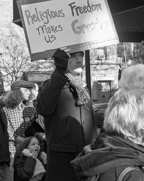 Demo against hate Bay Ridge Jan 2017 _DSF6259