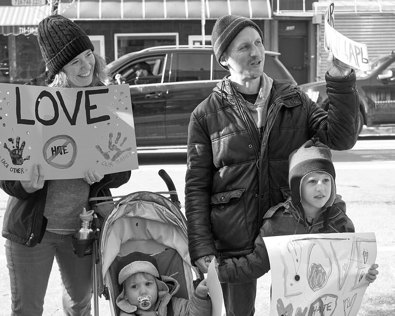 Demo against hate Bay Ridge Jan 2017 _DSF6240