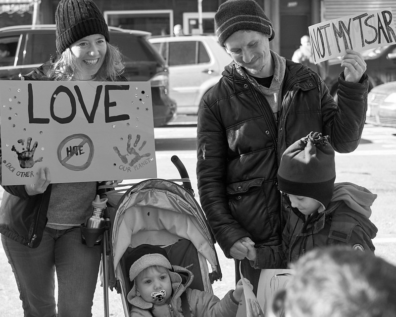 Demo against hate Bay Ridge Jan 2017 _DSF6241