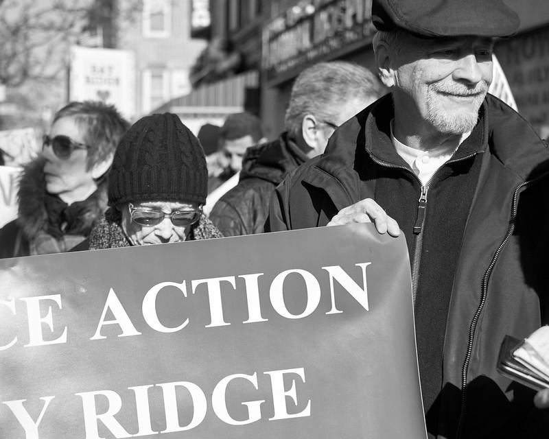 Demo against hate Bay Ridge Jan 2017 _DSF6250