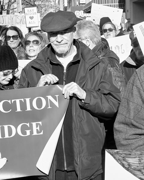 Demo against hate Bay Ridge Jan 2017 _DSF6252
