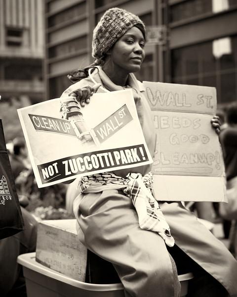 CF009184  #Occupy Wall Street b&w
