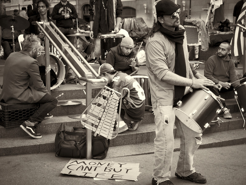 PA172196  #Occupy Wall Street b&w