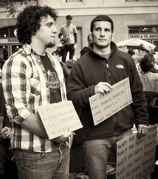 PA152129  #Occupy Wall Street b&w