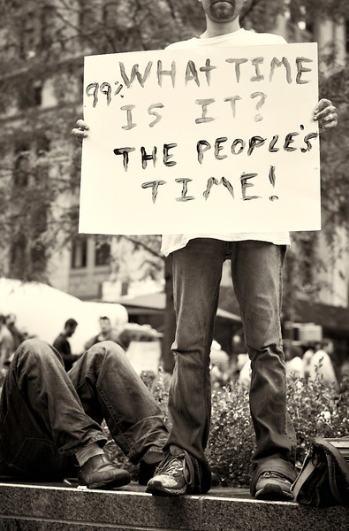 CF009183  #Occupy Wall Street b&w