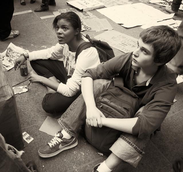P9301956  #Occupy Wall Street b&w