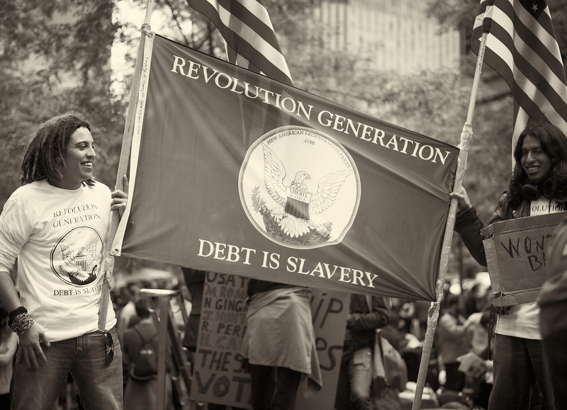 CF009212  #Occupy Wall Street b&w