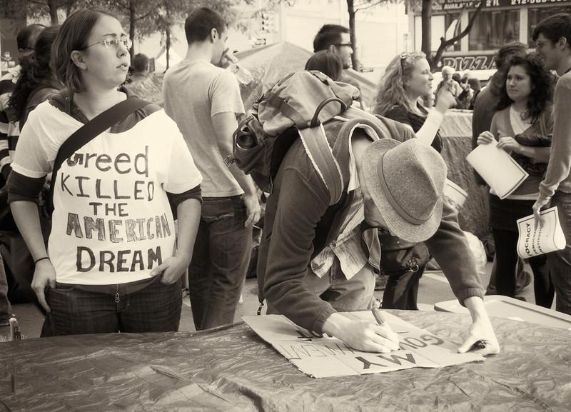 PA152088  #Occupy Wall Street b&w