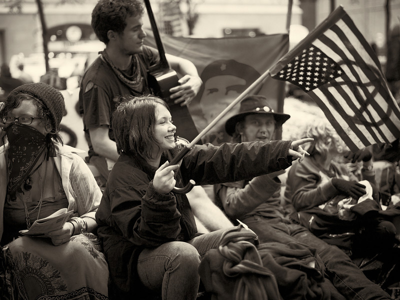 CF009208  #Occupy Wall Street b&w