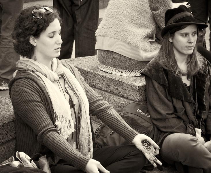 PA172193  #Occupy Wall Street b&w