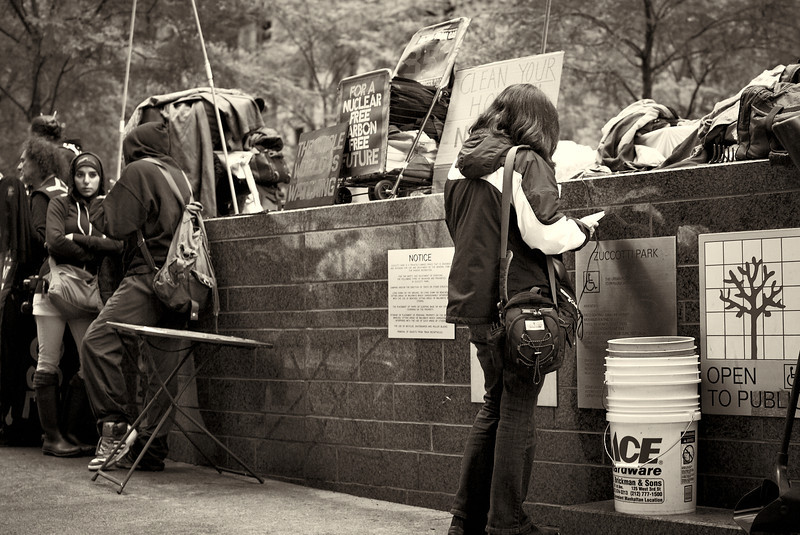 CF009182  #Occupy Wall Street b&w