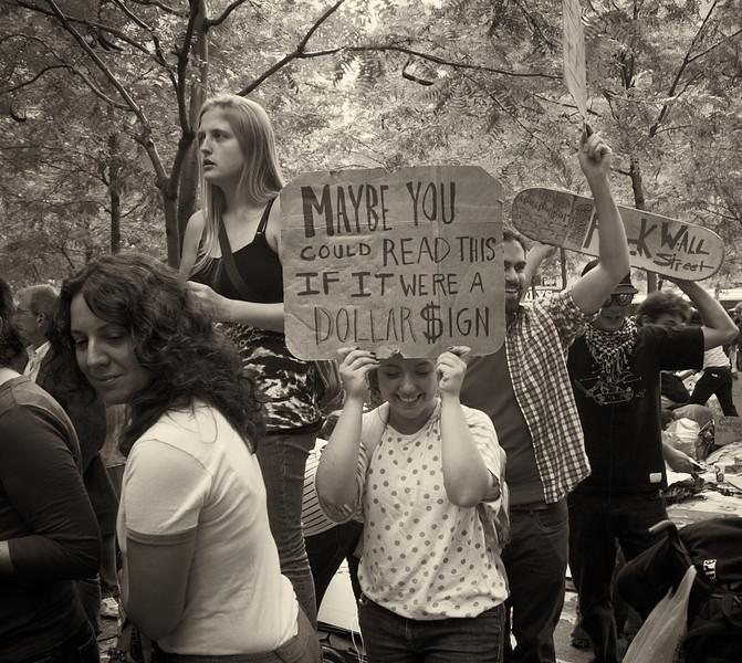 P9301955  #Occupy Wall Street b&w