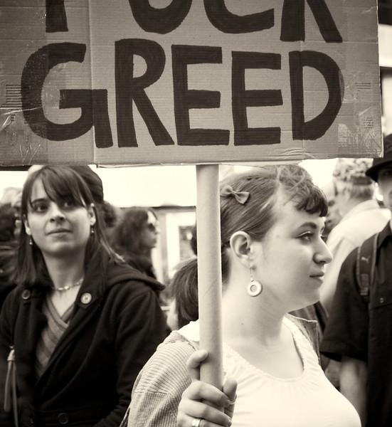 PA152147  #Occupy Wall Street b&w