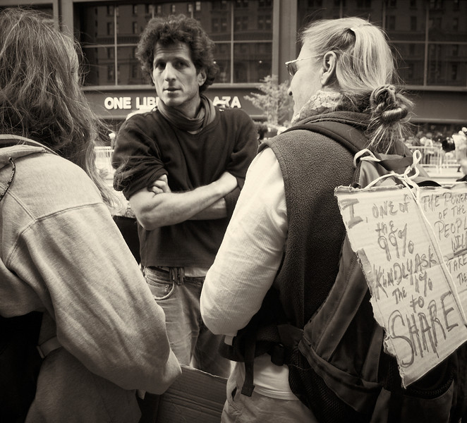 PA152081  #Occupy Wall Street b&w