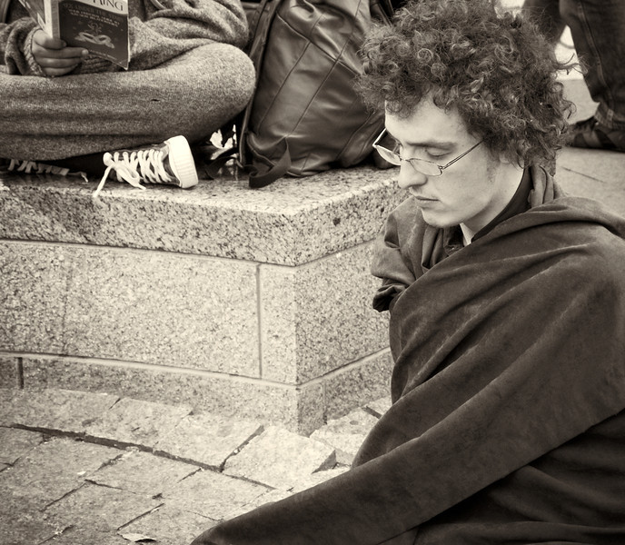 PA172174  #Occupy Wall Street b&w