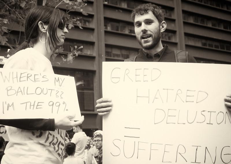 PA152092  #Occupy Wall Street b&w