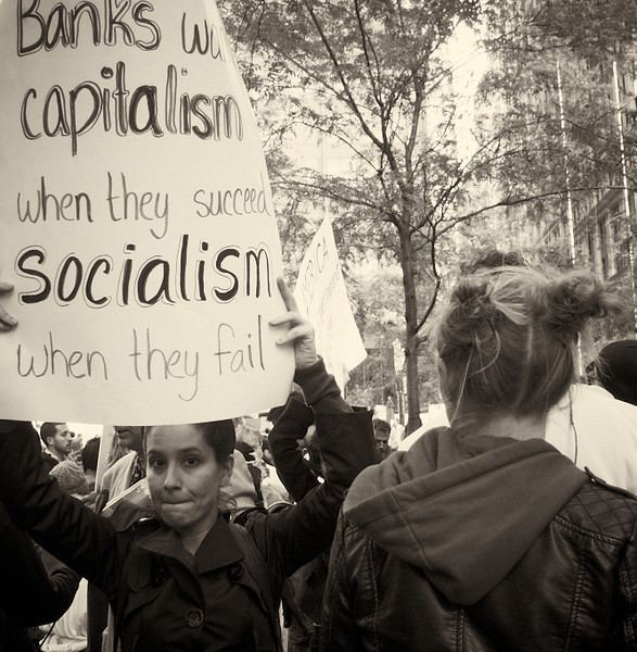 PA152077  #Occupy Wall Street b&w