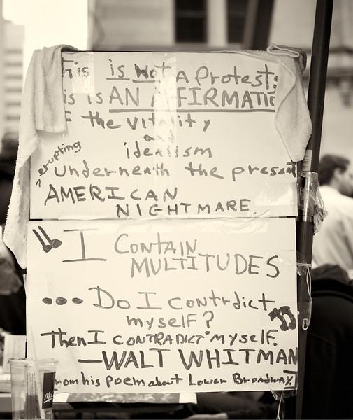 CF009185  #Occupy Wall Street b&w