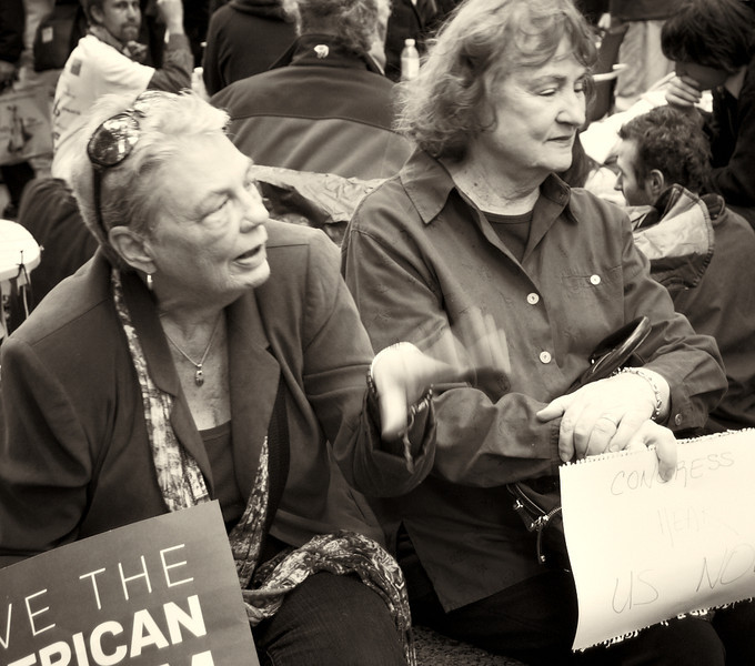 PA172185  #Occupy Wall Street b&w
