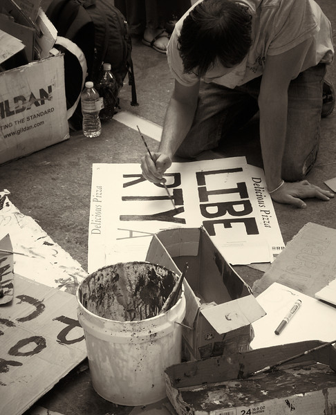 P9301957  #Occupy Wall Street b&w