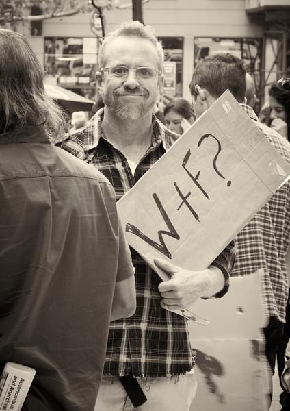 P9301963  #Occupy Wall Street b&w
