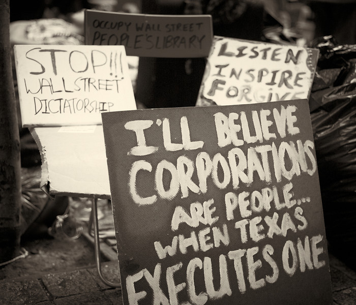CF009215  #Occupy Wall Street b&w