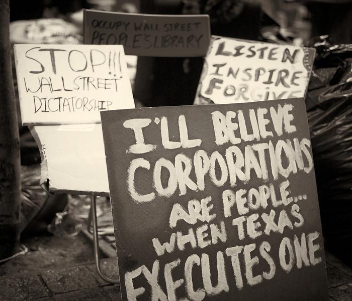 CF009215  #Occupy Wall Street b&w