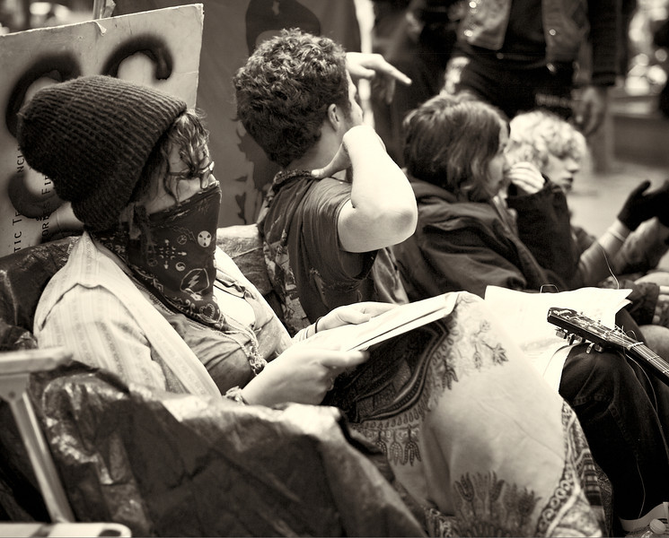 CF009178  #Occupy Wall Street b&w