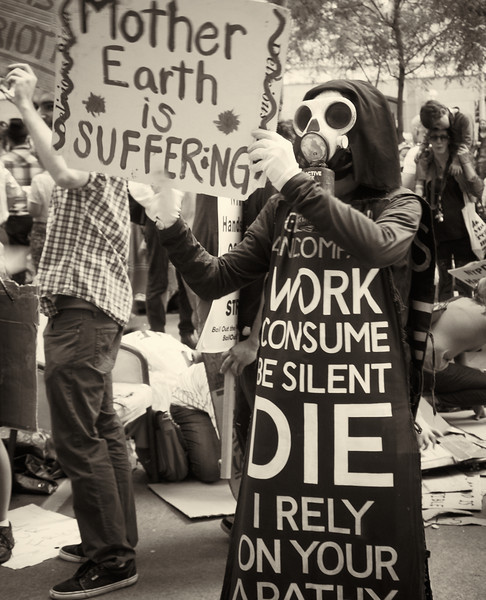 P9301960  #Occupy Wall Street b&w