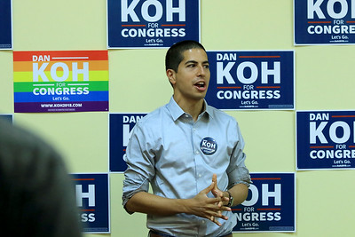 Democratic congressional candidate Dan Koh's new office, July 21, 2018