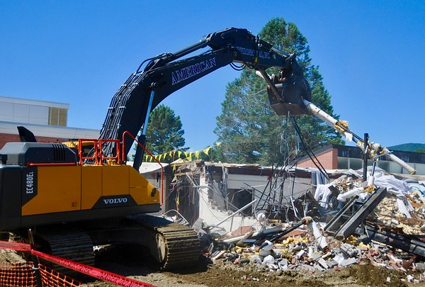 Demolition  of Mount Greylock Regional High/Middle School