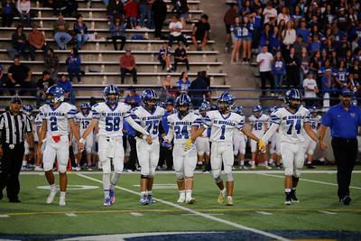 Santa Fe High School's Demons face off against St. Michael's Horseman at Ivan Head Stadium on Friday September 27, 2019. The Horseman won 32-28.