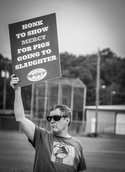 Al from Knoxville Farmed Animal Save in TN. Showing support and solidarity for one common goal