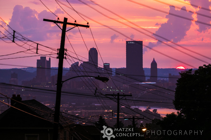 Sunset over Pittsburgh on the 4th