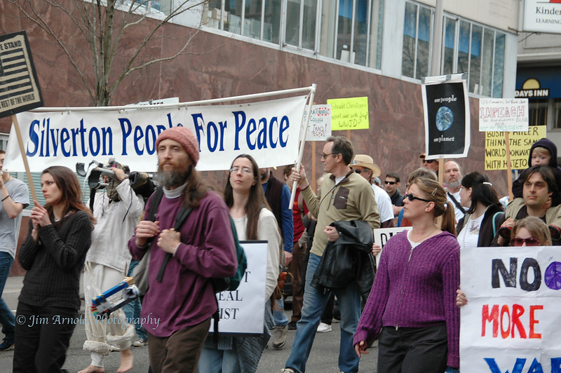 Iraq 3rd Anniversary Peace Rally and March - Portland
